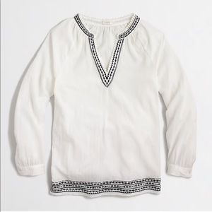 🆕NWT🆕 J Crew cotton embroidered tunic top